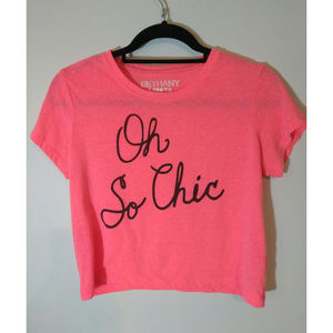 Bethany Mota | Crop top Tee | So Chic